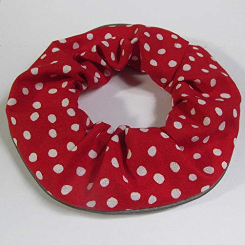 Red and White Polka Dot Cat Scrunchie