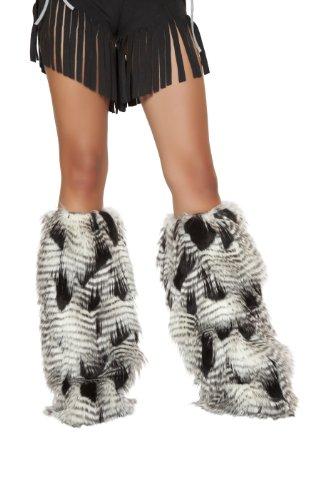 Roma Costume Women's Native American Leg Warmer, White/Black, One Size