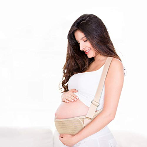 Cinturón de maternidad con correas para el hombro, banda elástica para el vientre para el embarazo apoyo espalda protección
