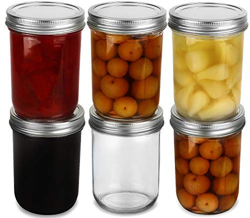 Wide Mouth Mason Jars 16 oz
