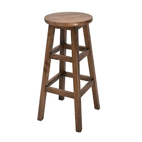 Office stoel bar stoel eenvoudige retro keuken ontbijt massief hout bar stoel casual office receptie stoel