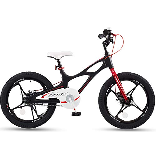 RoyalBaby Boys Girls Kids Bike 18 Inch Space Shuttle Magnesium Bicycles with Kickstand Child Bicycle Black