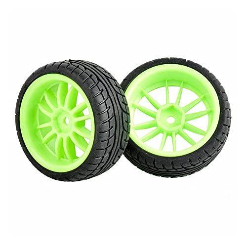 VIKEP 4 Piezas Neumáticos de Velocidad Inserte la Rueda de Esponja Adecuada para HSP 1/10 1.10 Auto turístico Mini reemplazo de Coches (Color : 6031G-8003)
