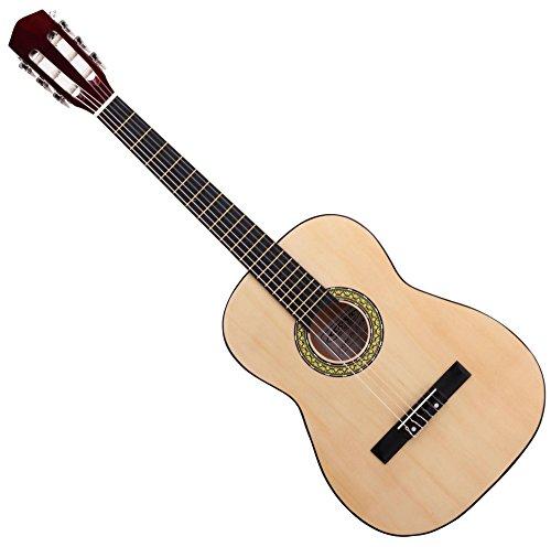 Classic Cantabile Acoustic Series AS-851-L Klassikgitarre 7/8 für Linkshänder (Kinder, Schüler, Einsteiger, 6 Saiten, Konzertgitarre, Akustikgitarre) natur