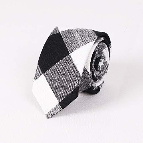FDHFC Heren Merk Tie Print Plaid Jacquard Trouwhals Tie Voor Heren Katoen & Linnen Halskleding Pak Party Gravats Accessoires