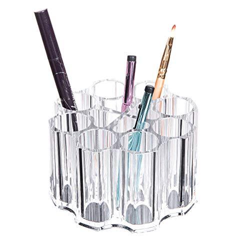 YunNasi Boîte de rangement en acrylique pour pinceaux de maquillage 12 compartiments