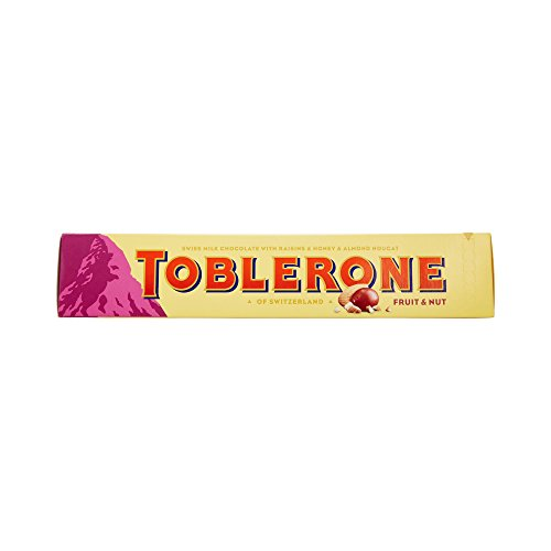 Toblerone gran barra de frutas y nueces Chocolate, 360g