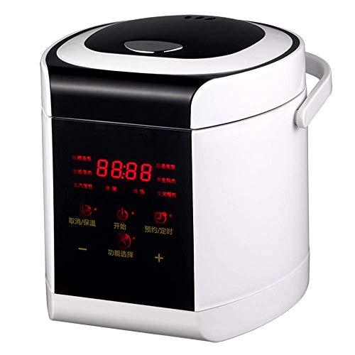 Programmierbarer Reiskocher Mini Food Steamer Digital 2L Zucker mit geringer Entfernung Multi Stewpot Intelligenter Getreidehersteller Gesundheit Edelstahl Sofort Mit Dampf und Spülkorb warm