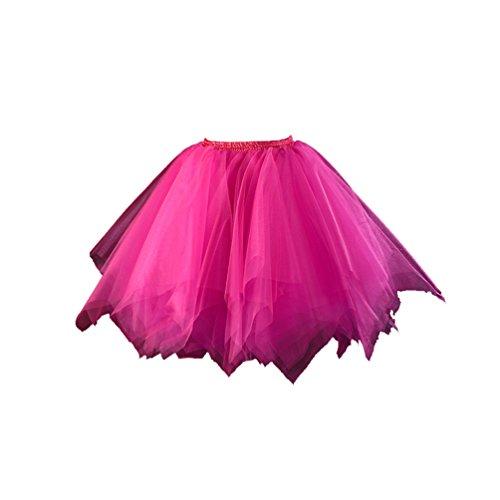 Honeystore Damen\'s Tutu Unterkleid Ballet Petticoat Rock Abschlussball Abend Gelegenheit Zubehör Fuchsie