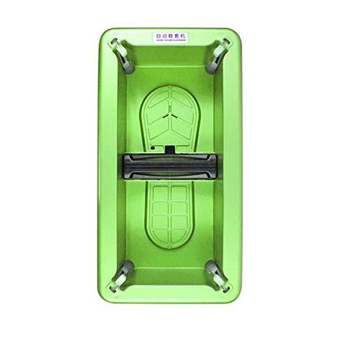 ZSQDSZ Dispensador automático de Cubiertas para Zapatos con Fundas Desechables de Fundas de PE Desechables de 100/200 pz. (Color : Verde)