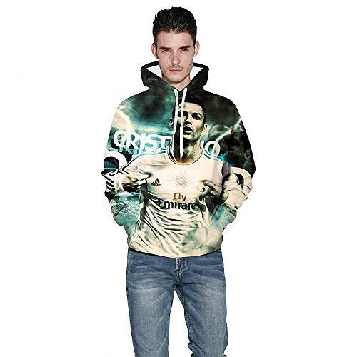 CBA BING C Ronaldo Herren- und Damen-Sweatshirt, Outdoor Sports Casual Wear Trainingsanzug Sportswear, 3D-Digitaldruck,D,S