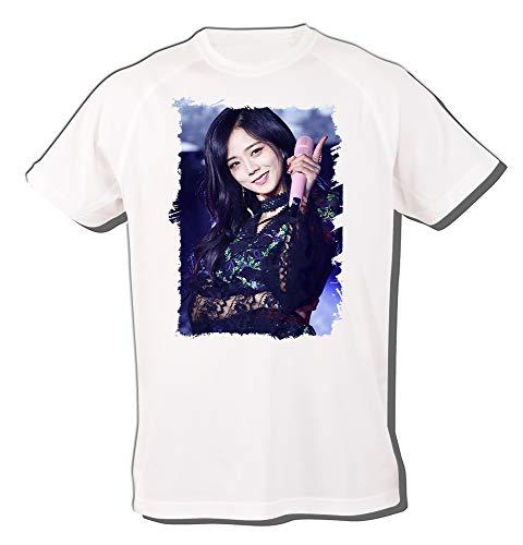 MERCHANDMANIA Camiseta A3 Blackpink JISOO Whistle Love Tshirt