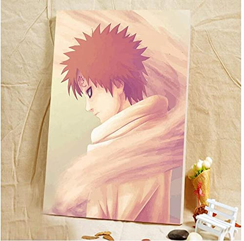 COVERLETWARM Pittura Fai da Te con I Numeri Naruto Pittura Digitale con I Numeri Hokage Ninjia Pittura Digitale Fai da Te Poster Anime Immagine con Numeri C 40X50Mm (con Cornici)