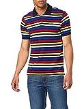 United Colors of Benetton Maglia Polo M 370TJ3175 Camisa, Rayas Multicolor 921, Hombre