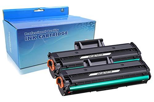 Bada Compatible Reemplazo para Samsung MLT-D111S D111S Cartuchos de tóner para Samsung Xpress M2026W M2026 SL-M2070 SL-M2070W SL-M2070F SL-M2070FW M2020W M2020 M2022 M2022W (2 Negro)