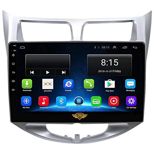 """Ateen Hyundai Verna Fluidic 9"""" inch Double din Android car Music System with Navigation/Android Player/Stereo with 1 GB ram/16 GB ROM/ Bluetooth/Touch Screen Media Player/ Split Screen/Mirror Link Support iOS"""