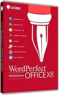 Corel WordPerfect Office X8 - Professional Edition for PC (Old Version)