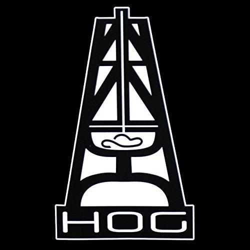 32 & Willys LLC Hooey Hog { Black } Premium Decal 5' | Oil Rig | Oil Field | Ruff Neck | Red Neck | Cowboy | Car Truck Vam Laptop MacBook Bumper Sticker