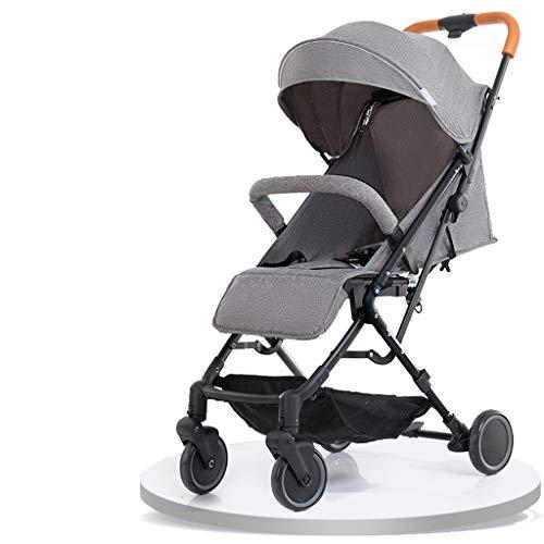 Carritos y sillas de Paseo El Cochecito de bebé se Puede sentar reclinado Ultra Ligero portátil Plegable Paraguas de Cuatro Ruedas para niños Cochecito de bebé Bebé Sillas de Paseo