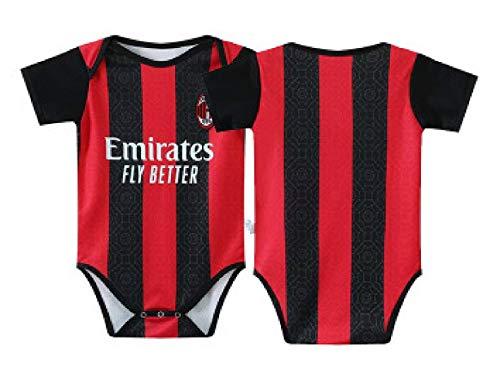 Fußballfans Club Home and Away Soccer Baby Bodysuit Comfort Jumpsuit für 6-18 Monate Säugling und Kleinkind New Season Jersey (6-12 Monate, AC Milan)