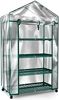 Home-Complete Mini Greenhouse-4-Tier Indoor Outdoor Sturdy Portable Shelves-Grow Plants, Seedlings, Herbs, or Flowers In A...