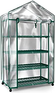 Home-Complete Mini Greenhouse-4-Tier Indoor Outdoor Sturdy Portable Shelves-Grow Plants, Seedlings, Herbs, or Flowers In Any Season-Gardening Rack
