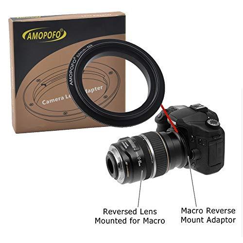 52mm to Nikon Retroadapter Makro Umkehrring Ring,Kompatibilität Für Nikon DSLR Kamera D3400 D500 D5 D7200 D810A D5500 D750 D810 D4S D3300 Df D5300 D610 D7100 D5200 D600 D3200