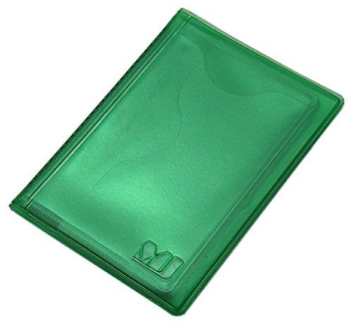 Práctica Tarjetero para Tarjeta de crédito y Tarjeta de Visita 12 Bolsillos MJ-Design-Germany (Verde)