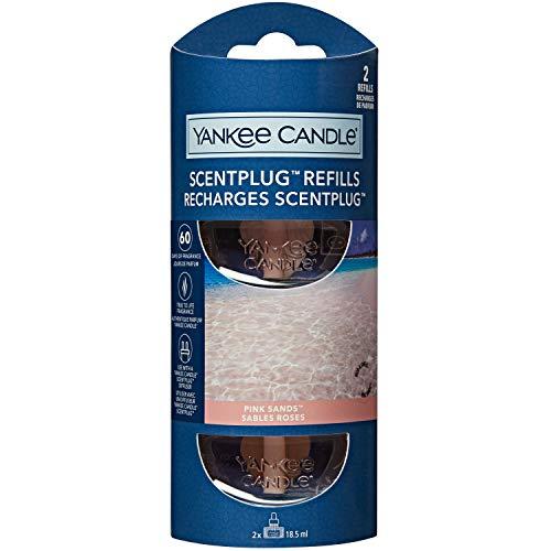 Yankee Candle ricariche fragranza ScentPlug | Olio per profumatore d'ambiente elettrico Sabbie rosa | Durata della fragranza: fino a 60 giorni | 2 pezzi