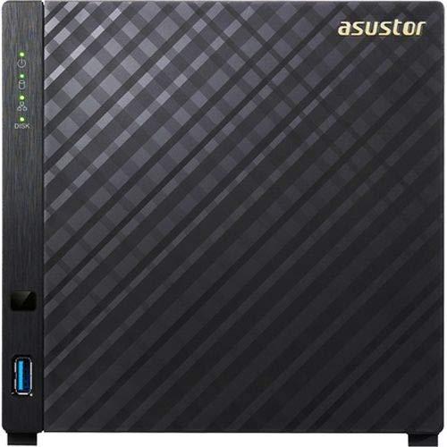 Asustor NAS-systeem. 1.6 GHz DC, 512 MB - 4-Bay zwart