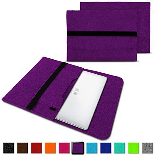 NAUC Laptoptasche Sleeve Schutztasche Hülle für Trekstor Surfbook W1 W2 Netbook Ultrabook 14,1 Zoll Laptop Filz Case, Farben:Lila