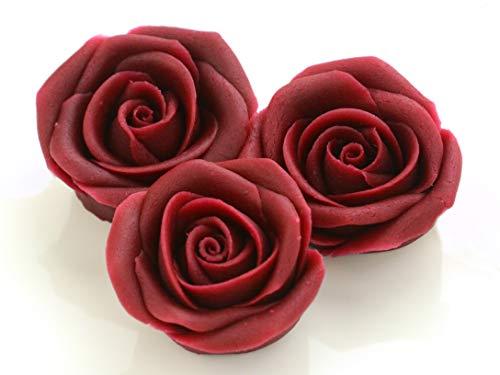 Marzipan-Rosen groß bordeaux 16 Stück