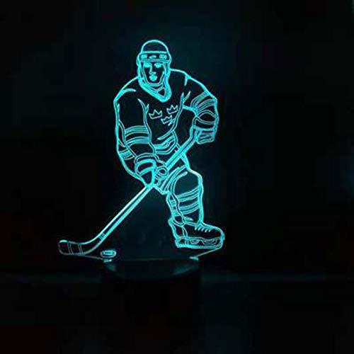 Sport-Reihen-Eishockey-Thema beleuchtet Nachtlicht-Farbänderungs-Noten-Stimmungslicht