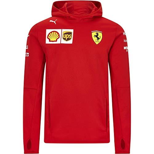 PUMA Herren Ferrari Team Fleece Jacke, Rosso Corsa, XXL