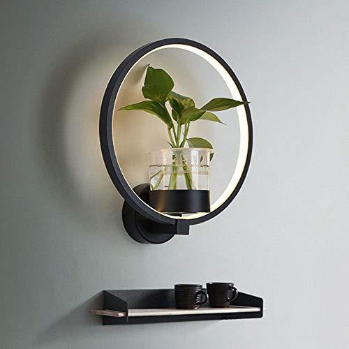 RongDuosi Led-wandlamp, hoofdlamp, voor de slaapkamer, eenvoudige tv-achtergrond met plant, wandlamp, woonkamer