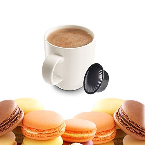 KICKKICK 50 Capsule Macaron alla Mandorla Compatibili Lavazza A Modo Mio - Bevanda Solubile in...