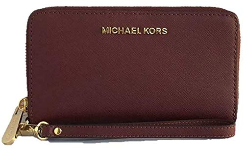 "100% Saffiano Leather Interior Details: Billfold Compartment, Zip Coin Pouch, 5 Card Slots, ID Window Compatible With iPhone 5, 6 7""W X 4""H X 1""D"