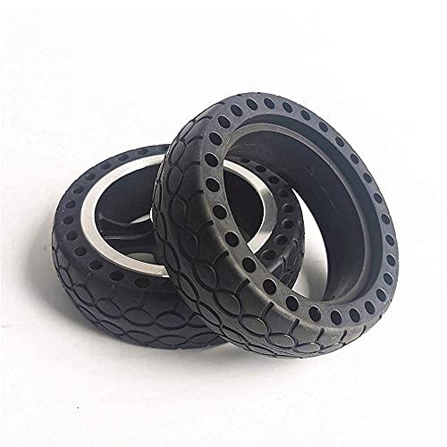 Neumático de scooter eléctrico, 5.5 pulgadas 5.5X1.5 Neumático sólido de panal a prueba de explosiones y resistente al desgaste Accesorios para scooter de rueda de aleación de aluminio, 8 mm, 10 mm