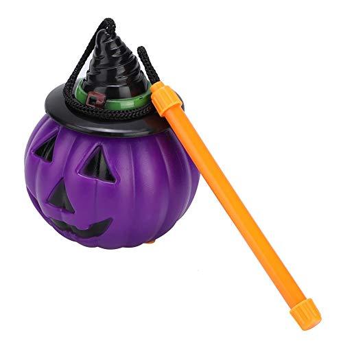 Jimdary Kürbislampe, tragbare Kürbislaterne Kürbislampendekoration, Kürbislichter für Hauptbarparty Halloween(Purple Pumpkin Lantern)