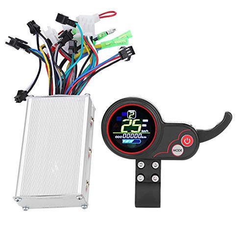 Electric Bike Controller, Brushless Motor Controller, 36v 48v 250w 350w Electric Scooter Controller, Scooter Motor Controller with LCD Shifter Display Panel for Electric Bike Scooter