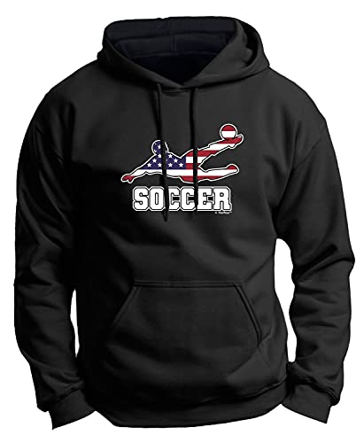 American Pride Summer Games Gifts United States Sports Soccer Premium Hoodie Sweatshirt Small Black
