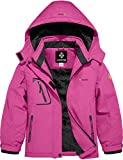 GEMYSE Girl's Mountain Waterproof Ski Jacket Windproof Fleece Outdoor Winter Coat with Hood