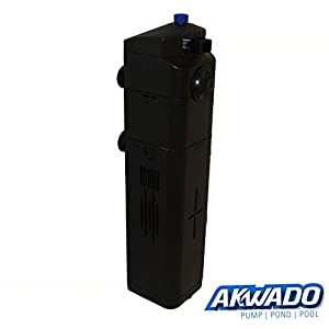 Akwado-Aquarium-Pumpe-8W-mit-13W-UV-Lampe-800lh
