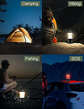 EMNT Lanterne LED Rechargeable, Lampe Camping Puissante 10000mAh Dimmable, Lampe Torche Eclairage 5 Modes, Etanche Portable Suspendue, pour Camping, Bricolage, Pêche, Garage, Cave, etc.