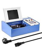 Anself 40W CO2 USB آلة قص النقش بالليزر للخشب والبلاستيك متعددة الوظائف مع شاشة رقمية