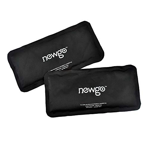 NEWGO®Cold Pack for Injury Reusable Clay Ice Pack 2 Pack Hot Cold Pack Therapy for Head Neck Ankle Wrist Elbow Arm Pain Relief - 9.84' x 4.92'