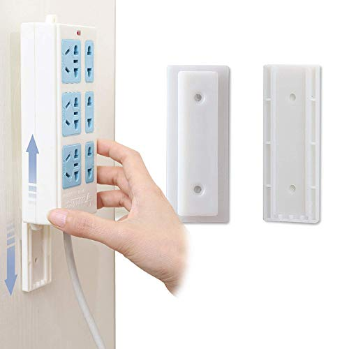 Selbstklebende Steckdosenleiste, 6 Stück Selbstklebende Power Board-Halter, zur Wandmontage, einfachste Halterung für Steckdosenleiste/WLAN-Router und Fernbedienung, kein Überspannungsschutz
