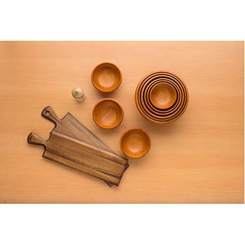 スワンソン商事胡椒挽きペッパーミル6型調味料入れアクリル約直径5.5×高さ14cmビーチトップ木蓋粗さ調節できるアジャスター付き中身の量が見えるW916P