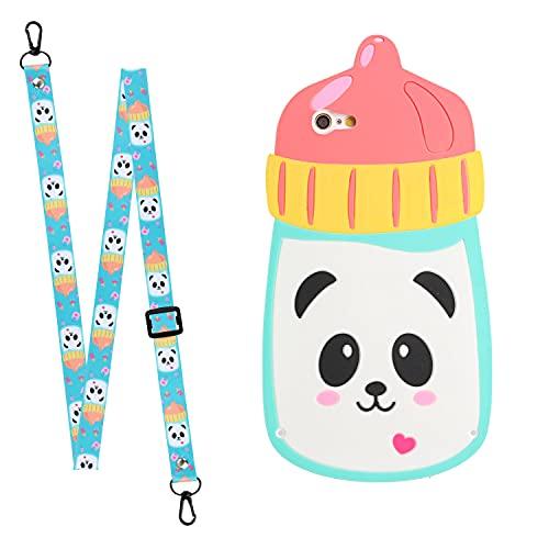Yewos Compatible avec Huawei Mate 20 Coque Animaux Motif 3D Silicone Dessin animé Panda Mignon Souple Housse avec Dragonne Cordon,Cool Kawaii Drole Filles Enfant Antichoc Étui