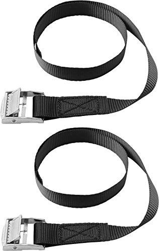 Connex Zurrgurt - Praktisches Set mit 2 Stück - Einteilig - 500 x 18 mm - 100 kg maximale Belastbarkeit - Mit Klemmschloss / Spanngurt / Ladungssicherung / Ratschengurt / DY270678
